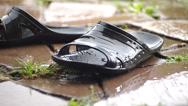 Stock Video Footage of flip flops