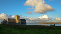 Iona abbey timelapse Stock Footage