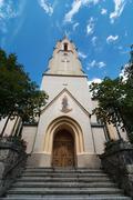 Maria-himmelfahrt (assumption day) church in garmisch-partenkirchen Stock Photos
