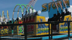 State Fair amusement ride spinning HD 9605 Stock Footage