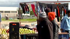 African market kiosk - stock footage