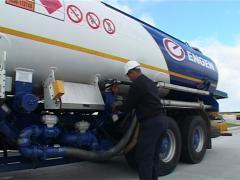 Petrolium fuel quality control officer PAL Stock Footage