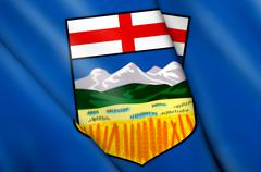 Flag of Alberta (Canada) Stock Illustration