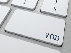 VOD. Information Technology Concept. - stock illustration
