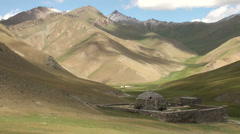 Tash Rabat, Kyrgyzstan, Silk Road, mountains, monument, history Stock Footage
