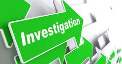 Investigation. Information Background. Stock Illustration