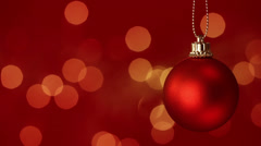 RedChristmasBauble HD Stock Footage
