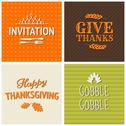 Stock Illustration of thanksgiving cards collection
