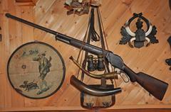 Hunters room - stock photo