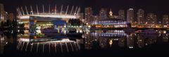 False Creek Night Panorama, Vancouver - stock photo