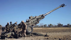 M777-A2 - Howitzer - 001 Stock Footage