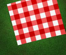 Red picnic blanket Stock Illustration