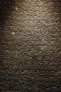 ancient sumerian cuneiform writing - stock photo