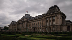 Brussels Royal Palace Stock Footage
