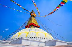Bouddhanath stupa during the day in kathmandu, nepal Stock Photos
