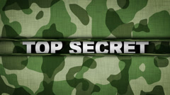 TOP SECRET Text in Military Door Stock Footage