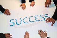 Teamwork means Success Stock Photos