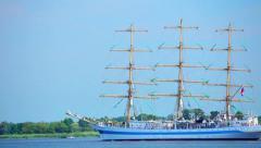Sailing ship, Poland Stock Footage