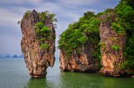 Stock Photo of james bond island ocean view in phang nga bay, andaman sea
