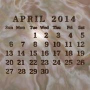 Stone calendar 2014, april Stock Illustration