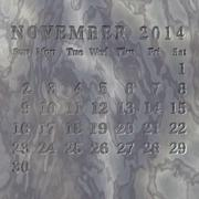 Stone calendar 2014, november Stock Illustration