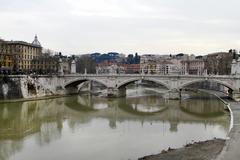 river tiber in rome, italy - stock photo