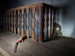 basement fear - stock photo