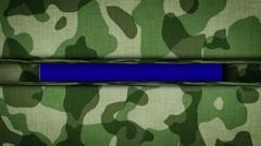 BLUE SCREEN Text in Military Door Stock Footage