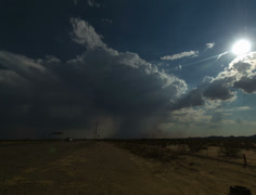 4K 24p The birth of a Haboob or sand storm in the AZ desert long version Stock Footage
