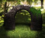 Stock Illustration of stone arch background