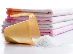 Laundry and detergent Stock Photos