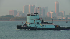 Tugboat Thomas D. Witte in New York Harbor 4 Stock Footage