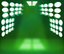 Spotlight green room background Stock Illustration