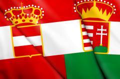 Flag of Austria-Hungary (1867-1918) Stock Illustration