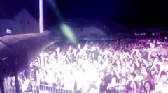 Foam clubbing dj  party Stock Footage
