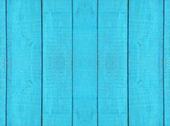 Old blue wooden fence. background. Stock Photos