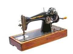 Old sewing machine.isolated. Stock Photos