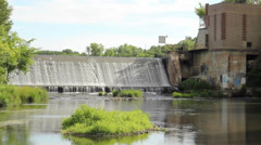 hydroelectric dam - stock footage