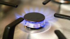 Gas burner Stock Footage