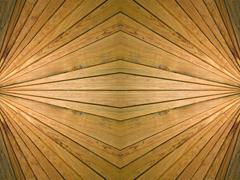 Wooden symmetrical background. Stock Photos