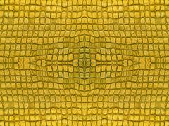 yellow symmetrical abstract background. - stock photo