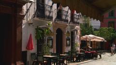 Restaurant in Marbella, Casco Antiguo Stock Footage