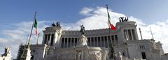 monument of victor emmanuel ii - stock photo