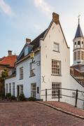 Medieval house in the dutch city amersfoort Stock Photos