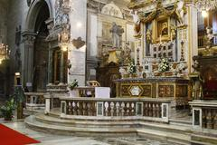 Basilica of st. mary of the altar of heaven Stock Photos