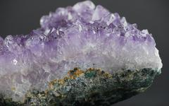 Amethyst Side Close Up Stock Photos