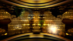 Gold map. - stock footage