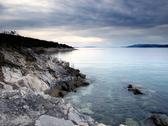 Stock Photo of gloomy adriatic sea