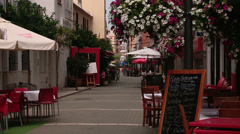 Restaurants in Estepona  Stock Footage