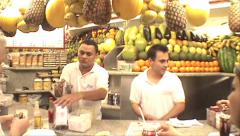 051-Rio-Brazil-Juice-Ipanema-Culture-Fruit-lifestyle-Vender Stock Footage